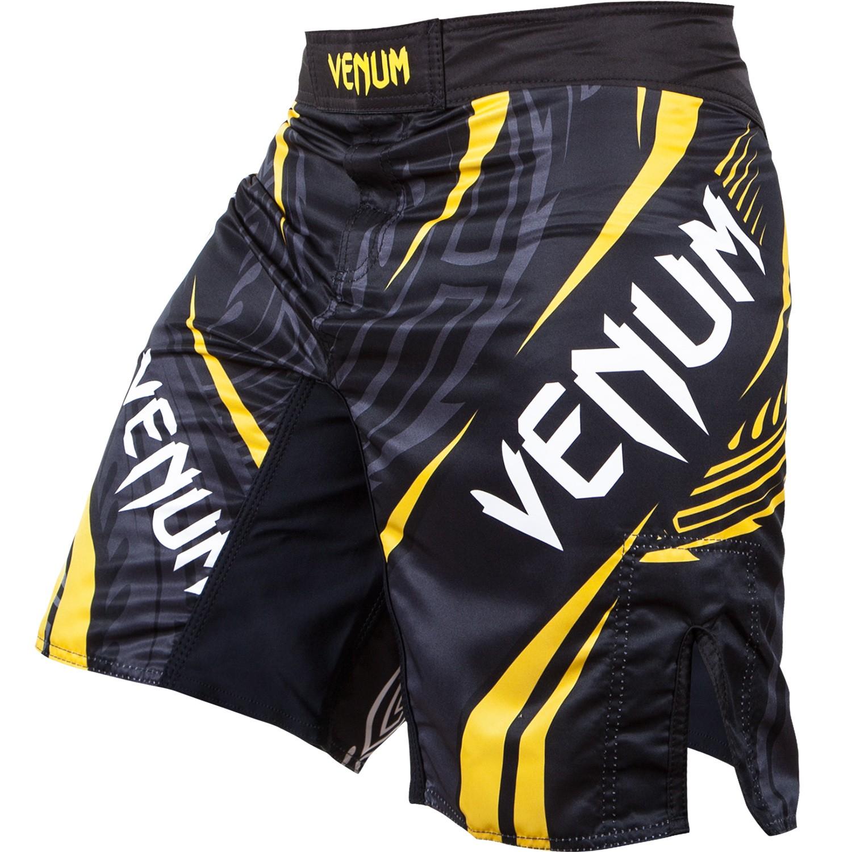 """Venum Lyoto Machida """"Ryujin"""" Kampf Shorts - Schwarz/Gelb"""