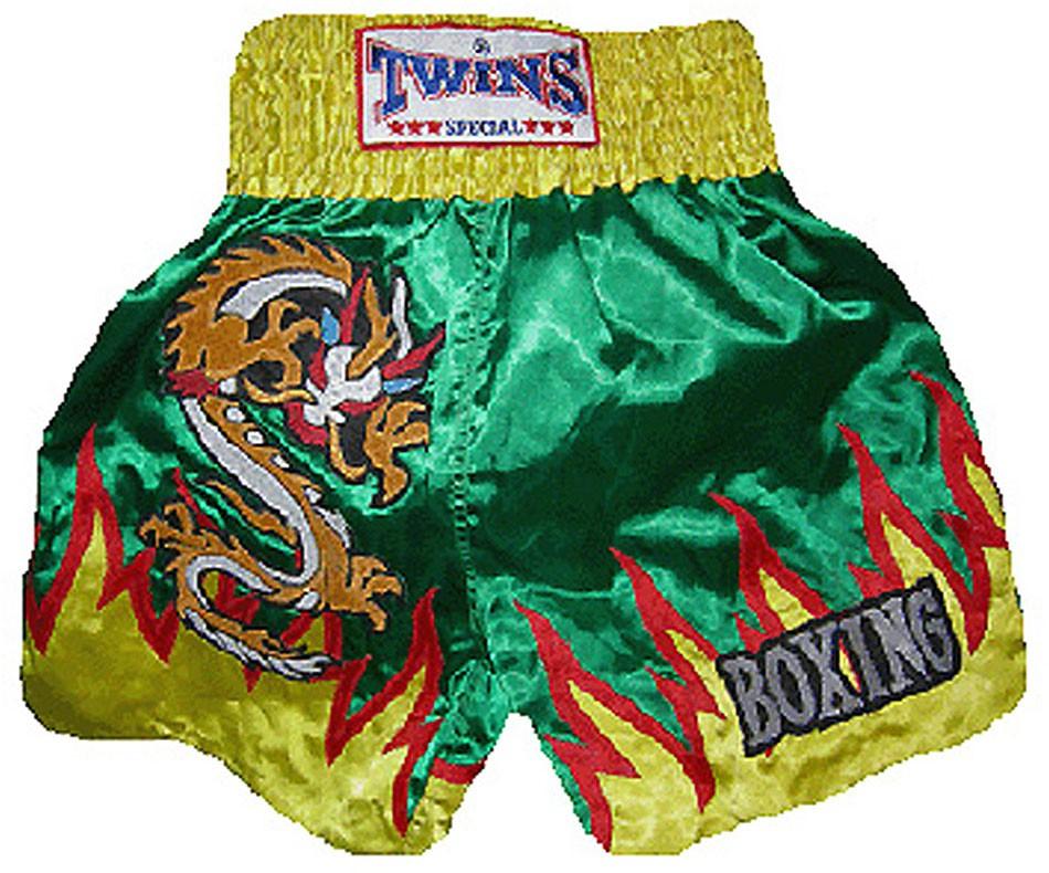 "TWINS Muay Thai Short, ""Drache"", Satin, kurz"