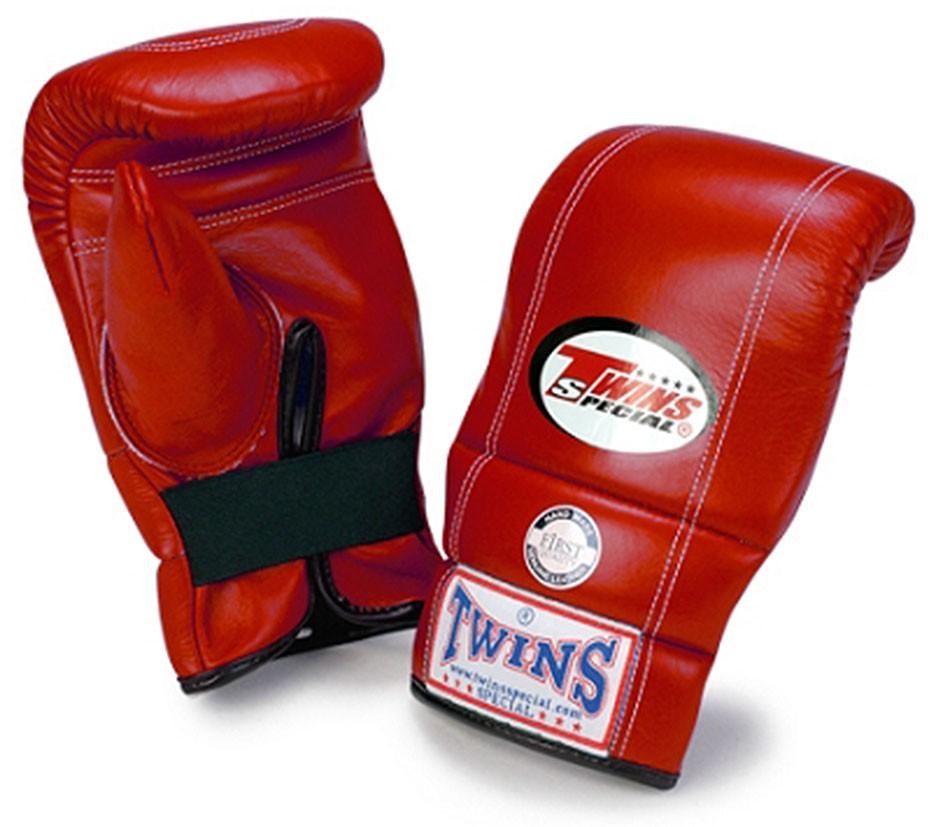 "TWINS Sandsack / Trainings-Handschuhe , ""Standard"", doppelte-Polsterung, Gummizug, Leder"