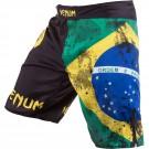 "Venum ""Brazilian Flag"" Kampf Shorts - Schwarz"