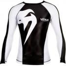"Venum ""Giant"" Rashguard - Schwarz/Eis - Long sleeves"