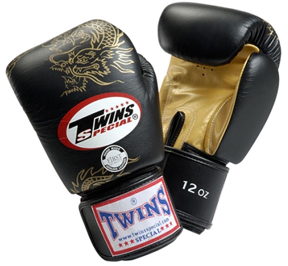 "TWINS gants de boxe, ""dragon"", velcro, cuir"