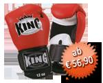 KING Boxhandschuhe, Klettverschluss, Leder