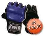 KING MMA Freefight Handschuhe, Klettverschluss, Leder