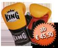 KING Sandsack / Trainings-Handschuhe, Klettverschluss, Leder