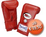 TWINS Sandsack- und Trainings-Handschuhe, Klettverschluss, Leder